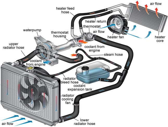 how a radiator works in automobile