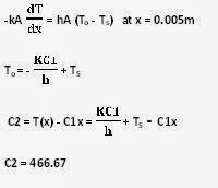Practical use of heat conduction equation