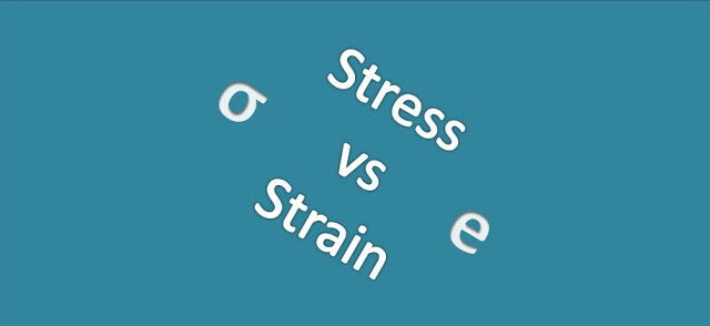 Difference between stress and strain
