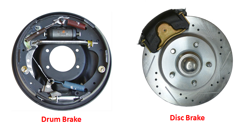 drum brakes vs disc brakes