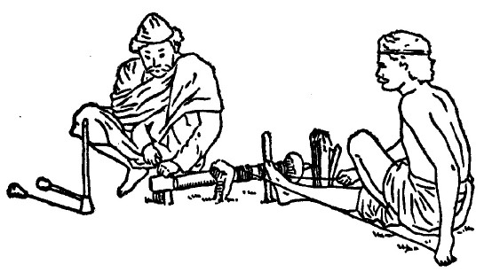 First Lathe machine developed by Romans
