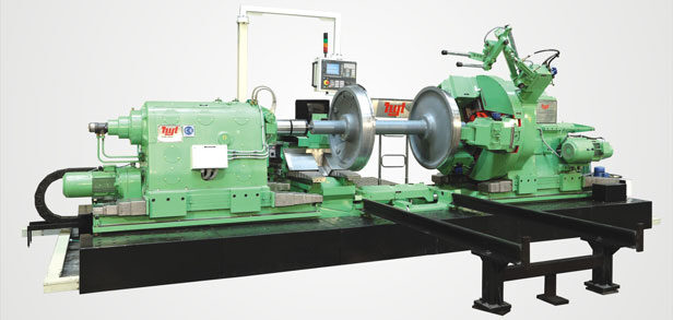 Wheel Lathe Machine