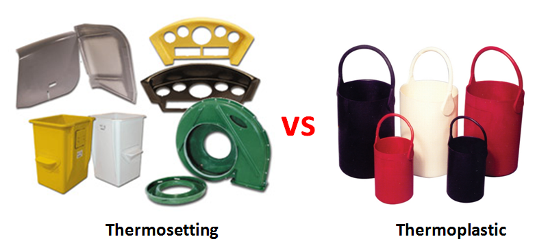 Difference between thermosetting and thermoplastic